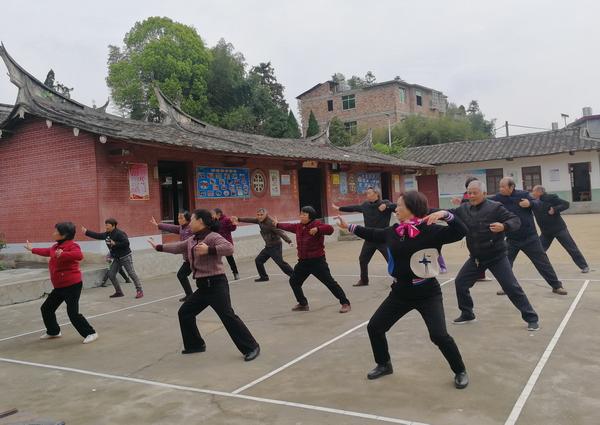 大田县吴山镇老体协举办八段锦辅导员培训班 培训 小.JPG